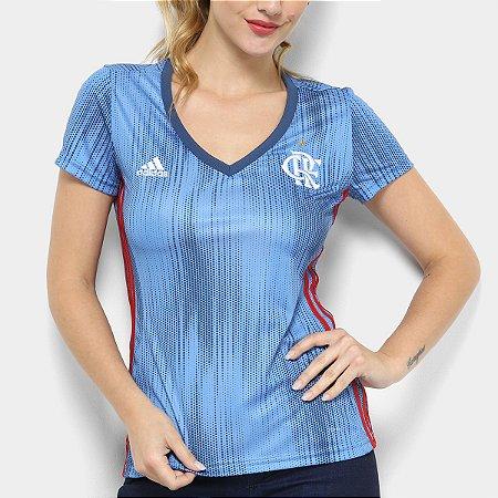Camisa Flamengo III 2018 s n° - Torcedor Adidas Feminina - Azul ... bbe01009272dd