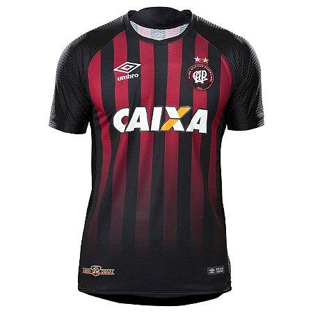 5db682c1c182d Camisa Atlético-PR I 17 18 s nº - Torcedor Umbro Masculina - Preto e ...
