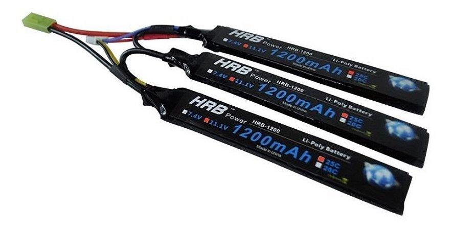 Bateria Lipo 11.1v 3s 1200 Mah 25c Aeg Airsoft
