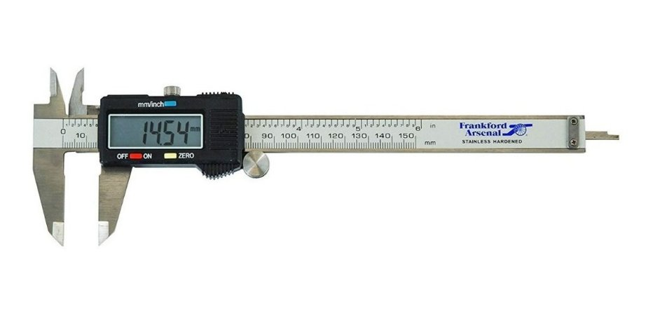Paquimetro Digital FrankFord Arsenal Aço inox - Com estojo