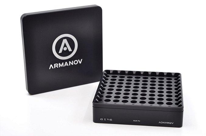 Armanov Case Gauge box 100 rnd pockets with Flip Cover
