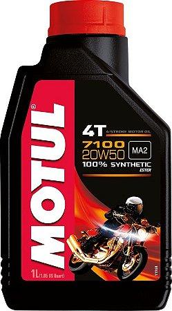 Óleo Lubrificante 1L - 7100 4T 20W50 - MOTUL