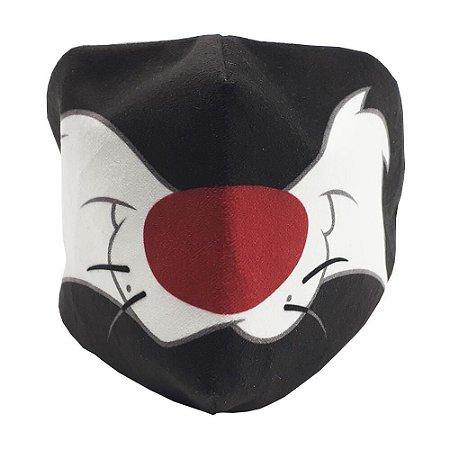 Máscara de Proteção - Frajola - Veludo - Zona Criativa