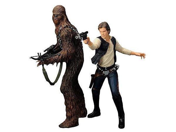 Han Solo and Chewbacca - Star Wars - ArtFX+ Statue - Kotobukiya