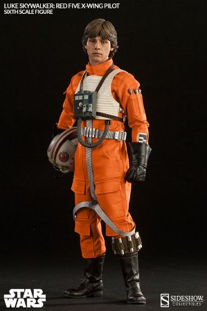 Star Wars Luke Skywalker Red Five X-Wing Pilot - Sixth Scale - Sideshow - 1/6 Figure