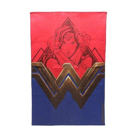 Pano de Prato de Algodão WB WW Fancy Logo Vermelho - 45 x 0,5 x 70 cm - Mulher Maravilha - Urban