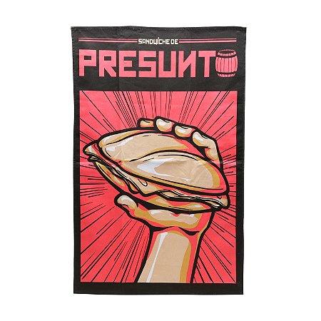 Pano de Prato de Algodão CVS Ham Lunch Vermelho - 45 x 0,5 x 70 cm - Chaves