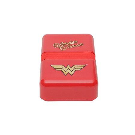 Marmita Fit Plástica WB WW Movie Classic Logo Vermelha - 18 x 12 x 5,5 cm - 800 ml - 750 gr - Mulher Maravilha
