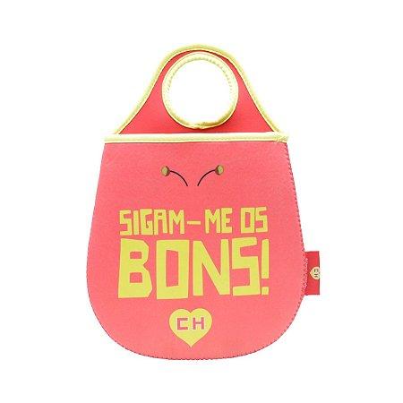 Lixeira para Carro de Neoprene CH Chapolin Slogan Vermelha/Amarela - 20 x 0,02 x 29 cm - Chapolin