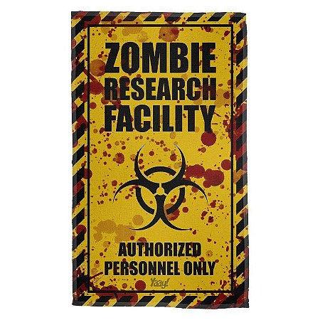 Pano Decorativo Multiuso Zombie Research Facility - Blood