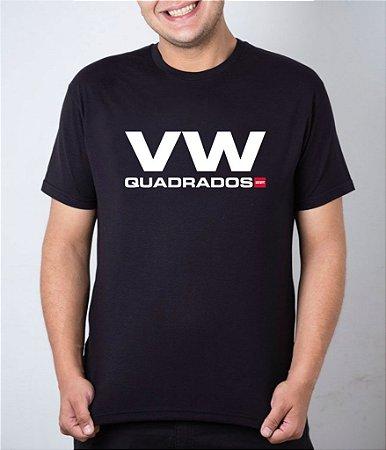 Camiseta preta VW Quadrados