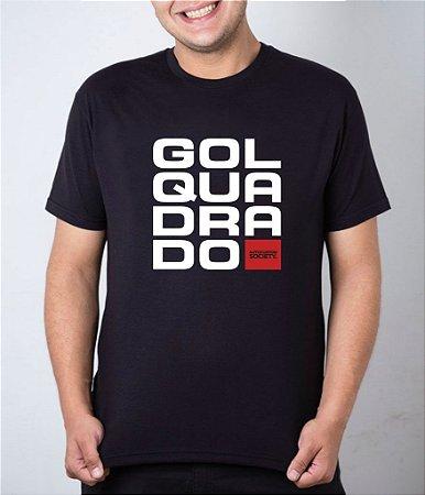 Camiseta preta Gol Quadrado