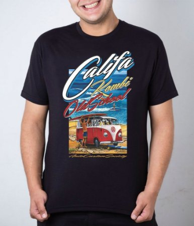 Camiseta preta Califa Kombi OldSchool