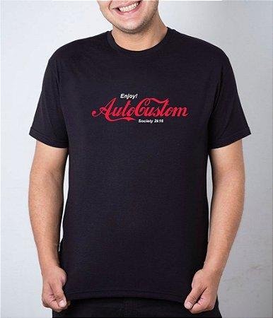 Camiseta preta Enjoy AutoCustom Society 2k16