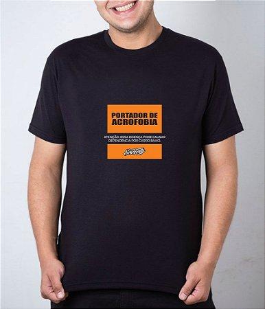 Camiseta preta Portador de Acrofobia