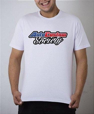 Camiseta branca AutoCustom Society