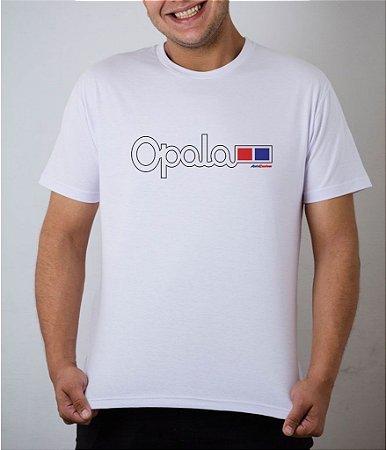 Camiseta branca emblema Opala