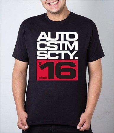 Camiseta preta AutoCustom Society 16