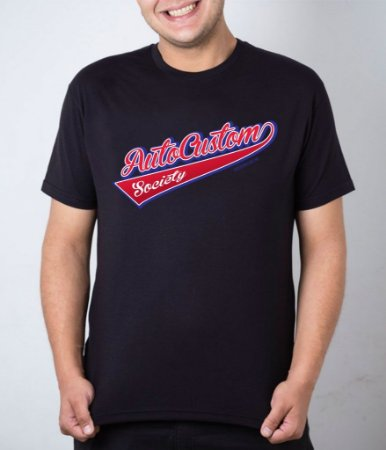 Camiseta preta AutoCustom Society Old School