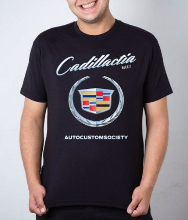 Camiseta preta Cadillactia
