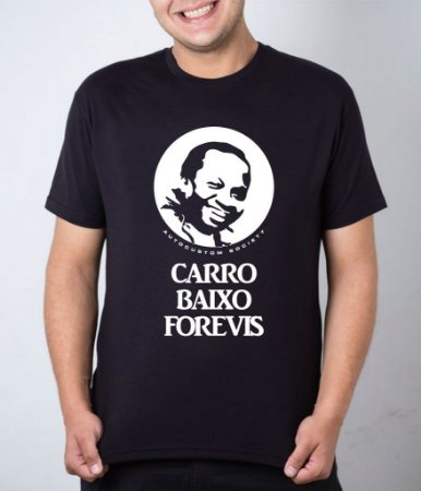 Camiseta preta Mussum Carro Baixo Forevis