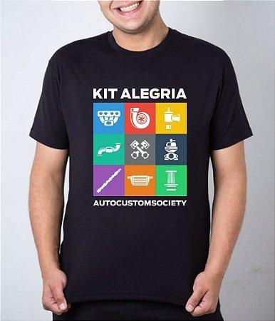 Camiseta preta Kit Alegria