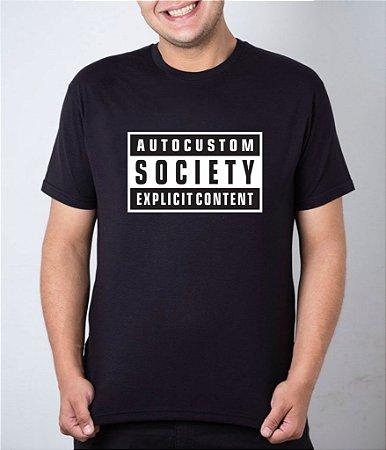 Camiseta preta Explicit Content