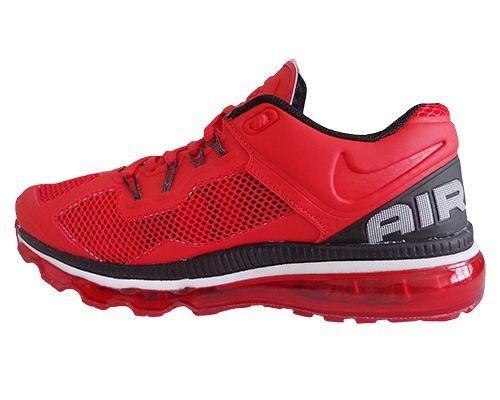 f22429562dd Tênis Nike Air Max 2013 Vermelho e Prata MOD 10750 Lançamento 2013 ...