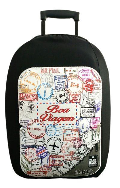 Capa para mala Star Bags Carimbos