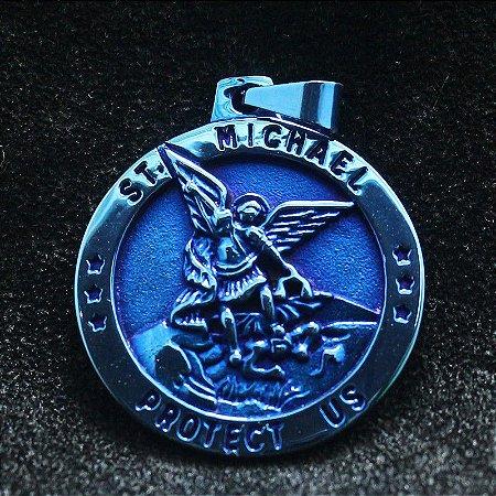 PINGENTE DE PROTEÇÃO ARCANJO MIGUEL (AZUL)