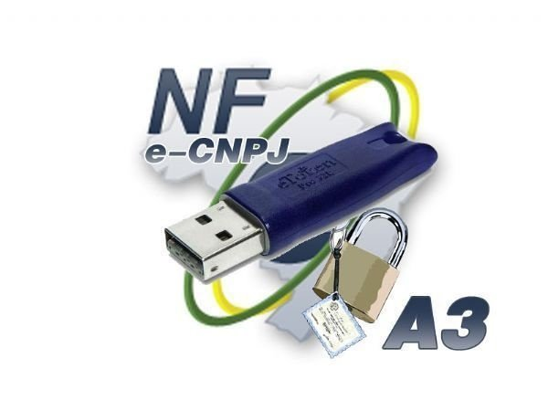 Certificado Digital A3 eCNPJ (Token USB) 480,00