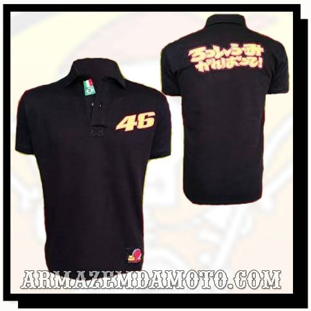 CAMISA POLO MOLETOM VALENTINO ROSSI 46 MOTOGP POWERED