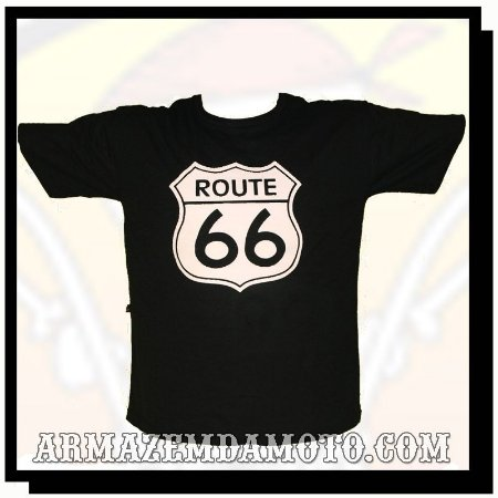 CAMISETA ROUTE PLACA ROTA 66