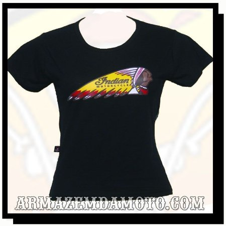 CAMISETA BABY LOOK FEMININA INDIAN MOTORCYCLE