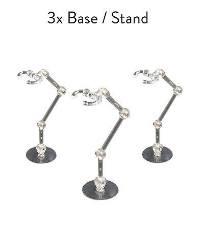 3x Base Stand Multidirecional Action Suporte Figuarts Figma Legends