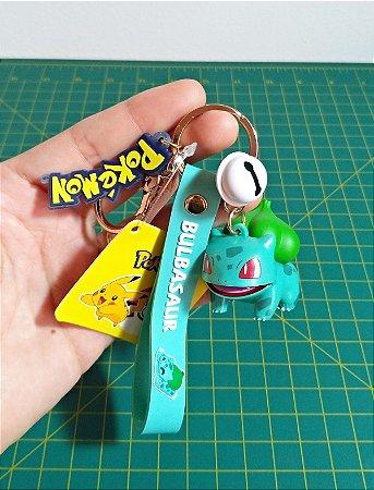 Bulbasaur 4,3 cm Pokémon Figure Keychain Chaveiro