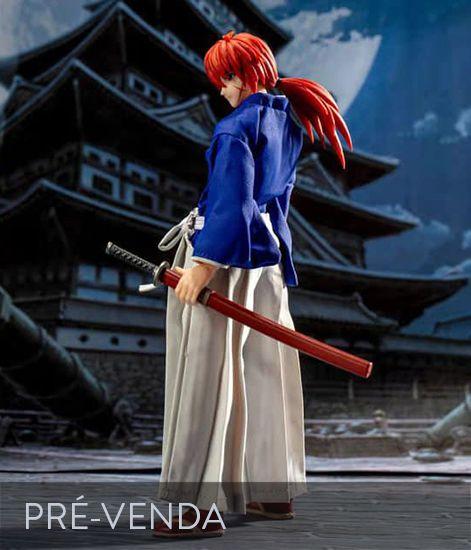 [ Pré-venda ] Kenshin Himura Especial ver. Kimono Azul - Rurouni Kenshin - Dasin Model