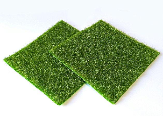 Grama sintética Tapete 15 x 15 cm - Action Figures Dioramas vegetação