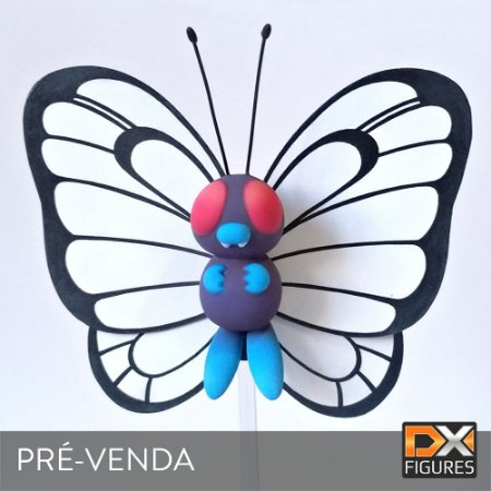 *3º LOTE [ Pré-venda (50%) do Valor Total ] Butterfree DX FIG-001- Pokémon Figure