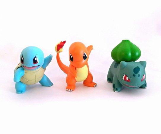 Squirtle + Charmander + Bulbasaur Pokémon Wct Figure