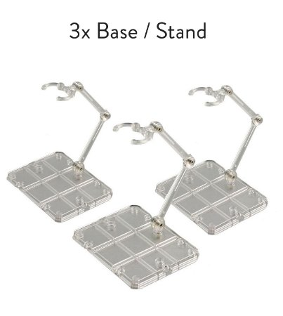 3x Base Stand Act Action Figure Suporte Sh Figuarts Figma