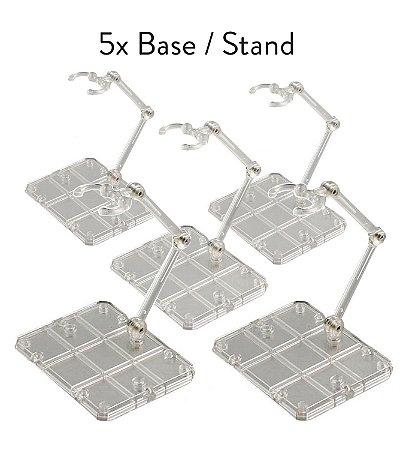 5x Base Stand Act Action Figure Suporte Sh Figuarts Figma