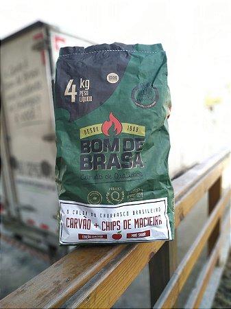 Edição Limitada - Carvão + Chips de Macieira Bom de Brasa 4 kg