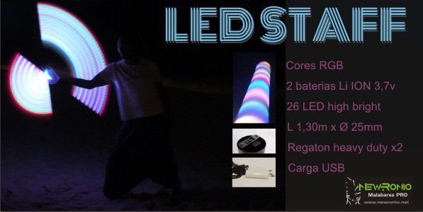 LED STAFF - Bastão LED