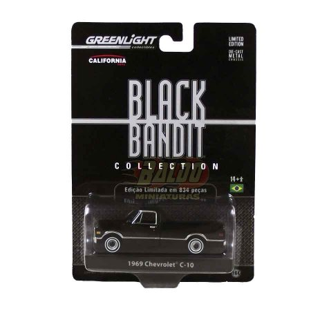 Greenlight - Black  Bandit - 1969 Chevrolet C-10 (Pickup)