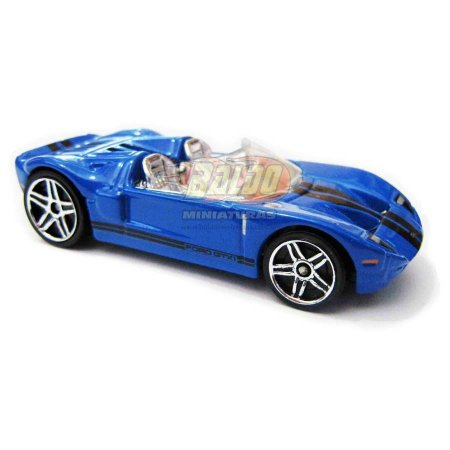 Hot Wheels - Ford Gtx 1 - 2007 - Azul - Sem cartela (loose)