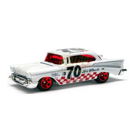 Hot Wheels - 57 Chevy Bel Air - 2008 - Branco - Sem cartela (loose)