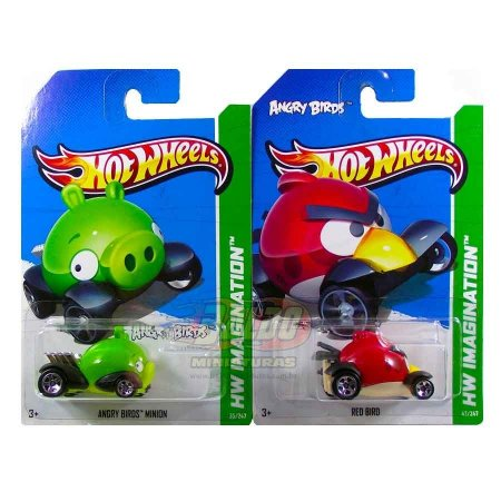 Hot Wheels - Angry Birds - Red Bird + Minion (KIT)