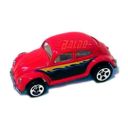 Hot Wheels - Beetle (Fusca) - 2009 - Vermelho - Sem cartela (loose)