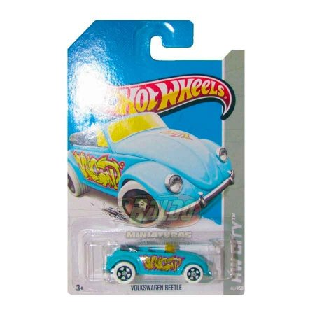 Hot Wheels - Volkswagen Beetle - Azul - Fusca